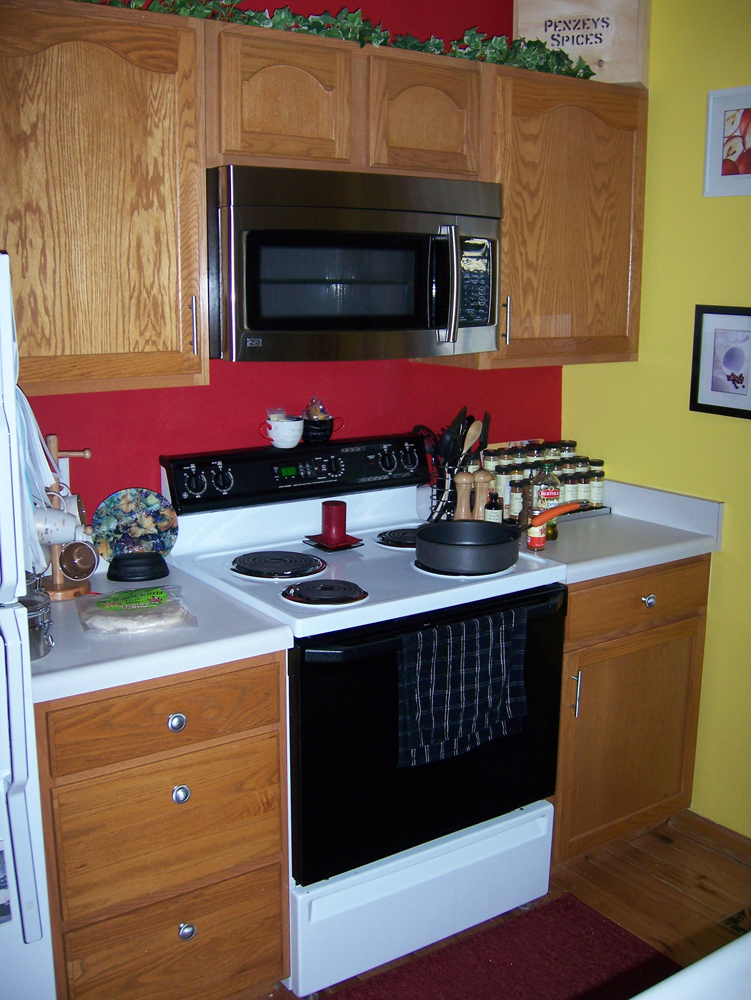 Kitchen Before Microwave Project Done